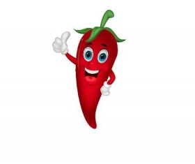 Red cartoon pepper vector