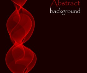 Red wave effect background illustration vector