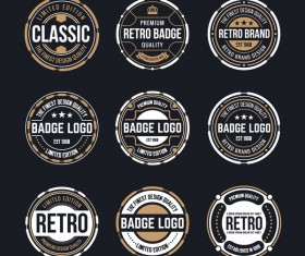 Retro badge template vectors 01