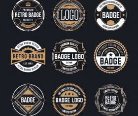 Retro badge template vectors 02
