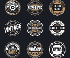 Retro badge template vectors 03