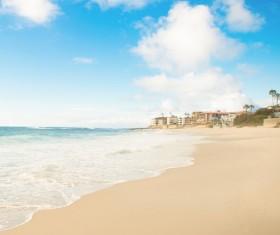 Ripple wave on beautiful empty seaside Stock Photo