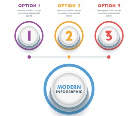 Round option infographic template vectors 02