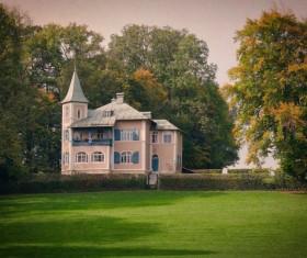 Rural Luxury Villa Stock Photo