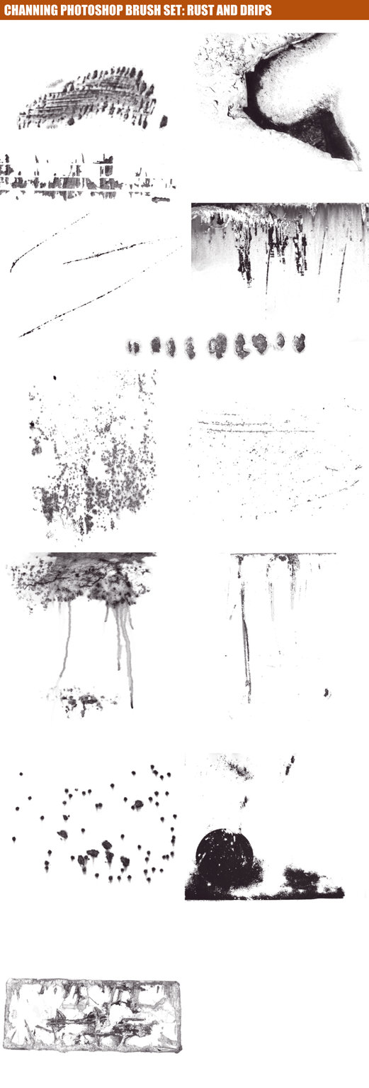 Rust and Scratches Photoshop Brushes