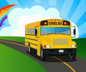 School bus background vector