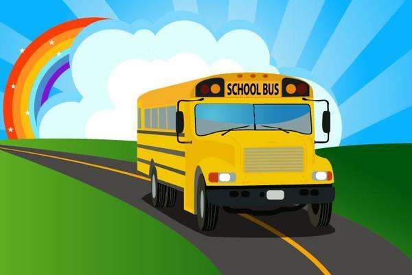School bus background vector