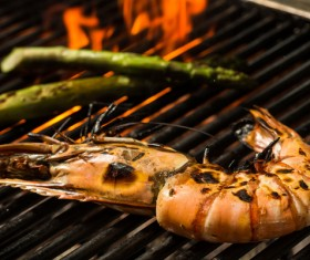 Seafood grill Stock Photo 01