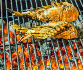 Seafood grill Stock Photo 02