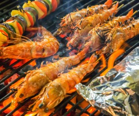 Seafood grill Stock Photo 03
