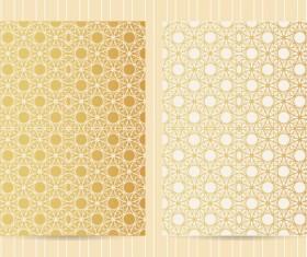 Seamless golden pattern vector designs 01