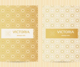 Seamless golden pattern vector designs 02