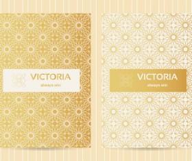 Seamless golden pattern vector designs 02