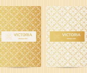 Seamless golden pattern vector designs 03