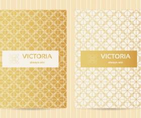 Seamless golden pattern vector designs 03