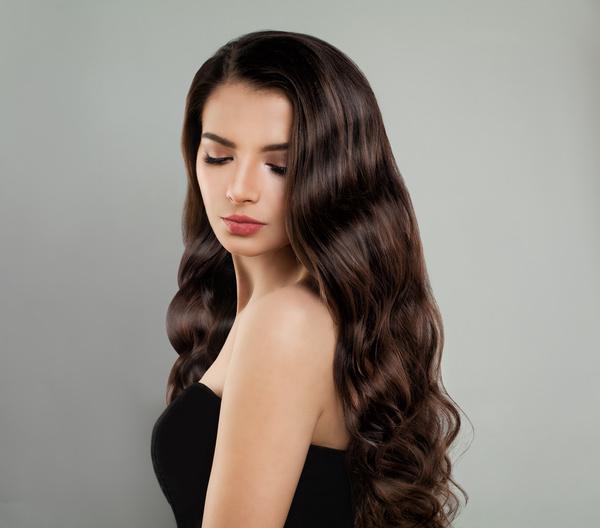 Shawl curls beautiful girl Stock Photo 02