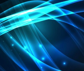 Shiny blue light wave background vector