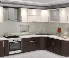 Simple Open kitchen Stock Photo 01
