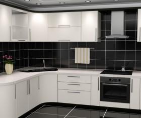 Simple Open kitchen Stock Photo 02