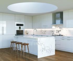 Simple Open kitchen Stock Photo 03