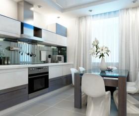 Small Open kitchen Stock Photo 01