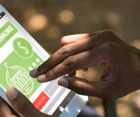 Smartphone payment Stock Photo 03