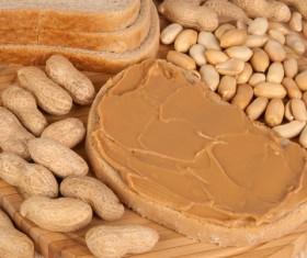 Smear peanut butter chocolate bread Stock Photo 01