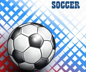 Soccer with sport background vector