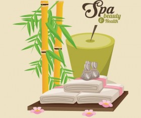 Spa beauty health design vector material 02