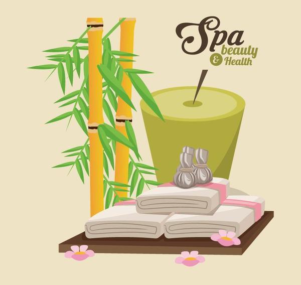 Spa beauty health design vector material 02