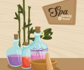 Spa beauty health design vector material 03