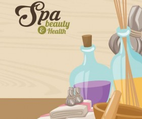 Spa beauty health design vector material 04