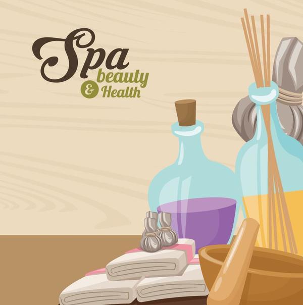 Spa beauty health design vector material 04