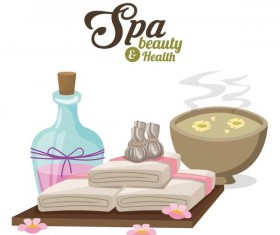 Spa beauty health design vector material 07
