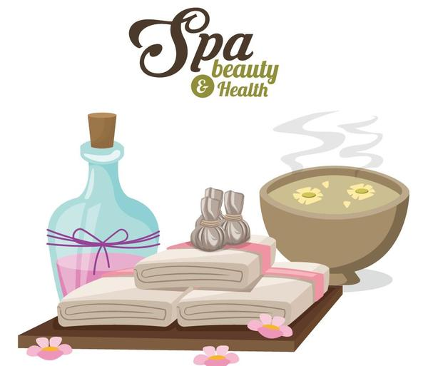 Spa beauty health design vector material 07