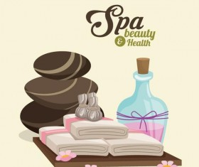Spa beauty health design vector material 08
