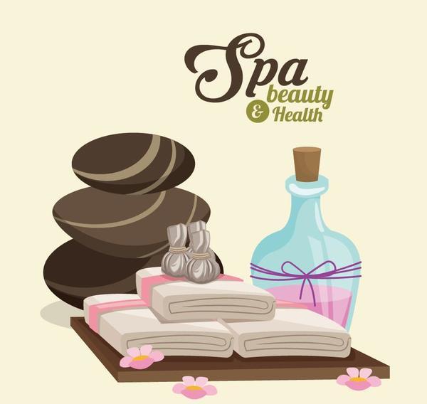Spa beauty health design vector material 08