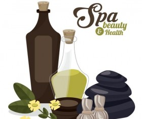 Spa beauty health design vector material 09