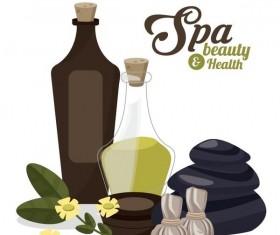 Spa beauty health design vector material 09
