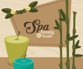 Spa beauty health design vector material 10