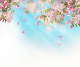 Spring flower with blurred background vector 01