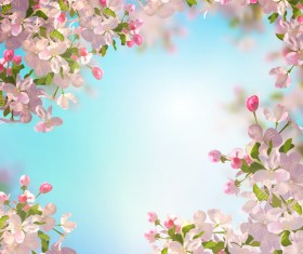 Spring flower with blurred background vector 02