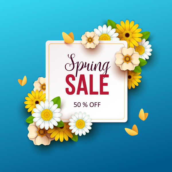 Spring flowers with blue sale background vector 02 free download spring flowers with blue sale background vector 02 mightylinksfo