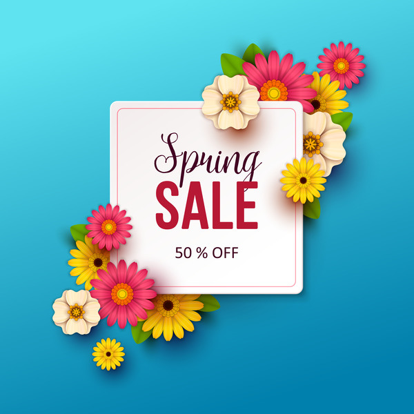 Spring flowers with blue sale background vector 03 free download spring flowers with blue sale background vector 03 mightylinksfo