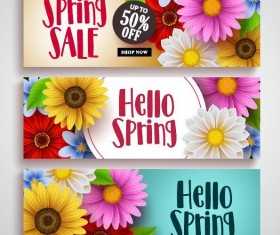Spring sale sprcial banners template vector 02