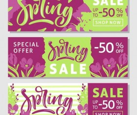 Spring sale sprcial banners template vector 03