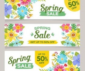 Spring sale sprcial banners template vector 04