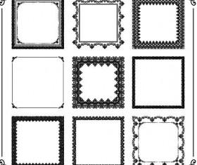 Square decor frame retro vector