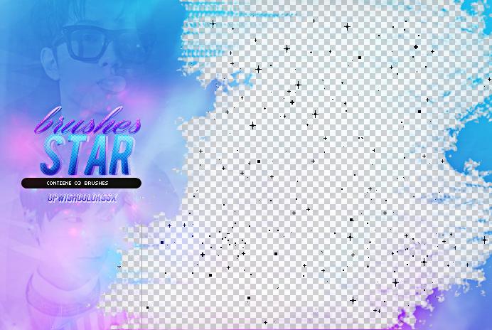 Star Pixel Photoshop Brushes