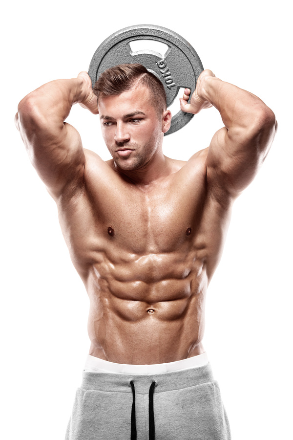 Strong man abdominal muscles Stock Photo